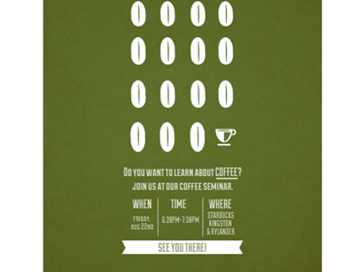 Coffee Seminar Poster poster illustration