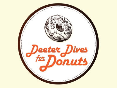 Deeter Dives for Donuts Logo logo