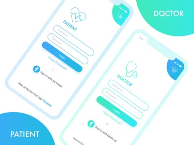 Doctor App ganesha ios 001 daily app patient doctor mobile ux ui login