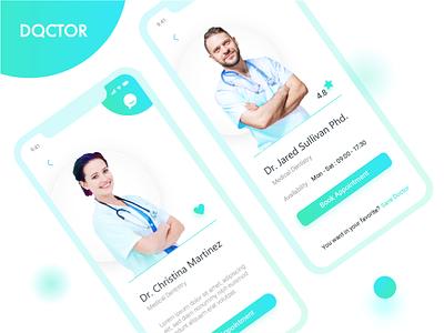 Doctor's Profile dailyui ux ui patient mobile profile ios ganesha doctor app 006