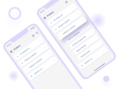 Drop-down Menu dailyui iphonex home card tab button menu product mobile dropdawn