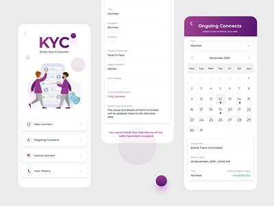 KYC purple dashboard mobile study connect customer design illustration madewithadobexd ux ganesha