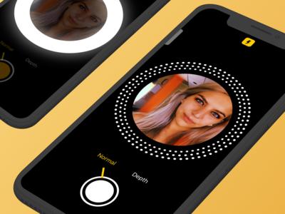 Ring Light Photo App Concept