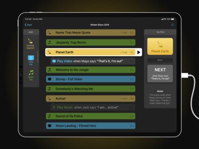 Live Show Cues App Concept