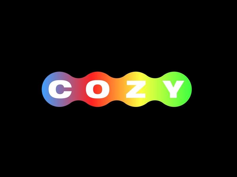 COZY gradation flat design type minimal logo branding