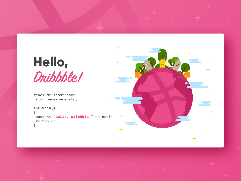 Hello, Dribbble! uidesign web design dribbble
