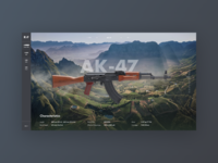 Weapons Concept | AK-74 darkcross russia fire web uiux ui assault rifle weapons weapon ammo 47 ak 47 ak-47 ak