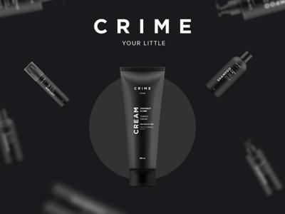 Crime premium cosmetic label
