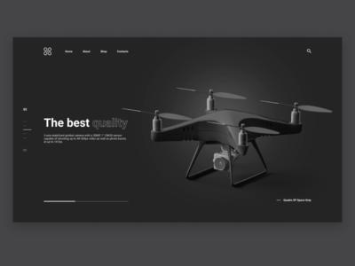Quadrocopter Website Concept