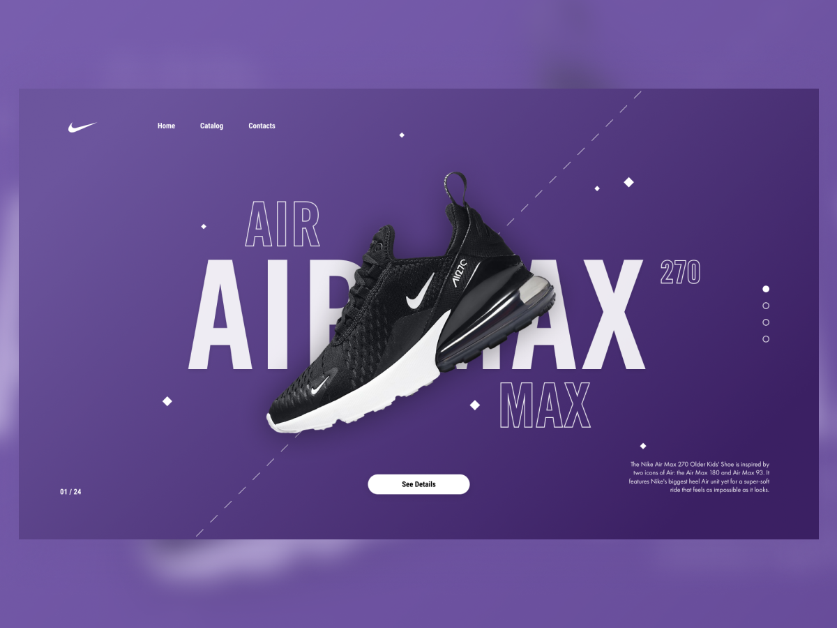 Air Max web design ux ui redesign nike shop shop nike air max nike air nike airmax freebie free