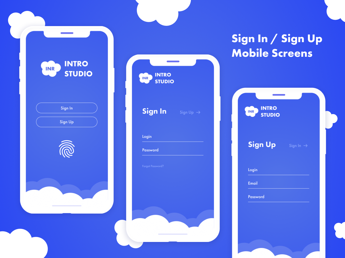 Sign In / Sign Up Screens by Slavik on Dribbble