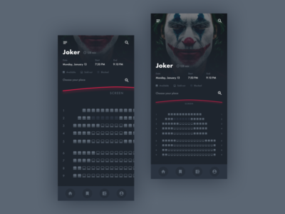 Cinema concept with Joker