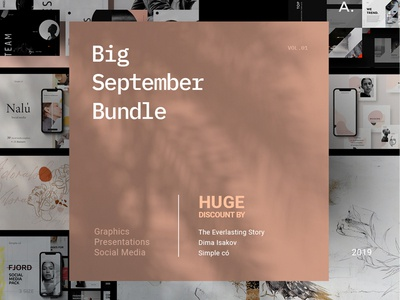 September Big Bundle | Graphics. Slides. Social Media.