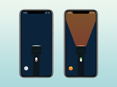 Trouch Light On-Off Switch DailUI photoshop xd design mobile dailyui