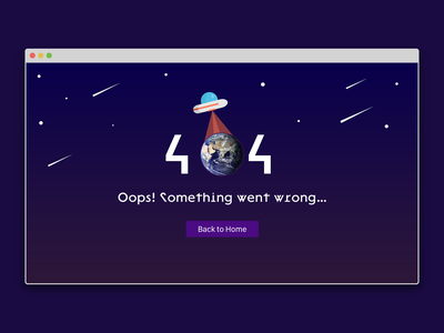 404 Template photoshop xd design dailyui 404 404page