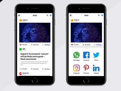 Social Network Share links mobile design mobile app design mobile ui mobile app app mobile share socialmedia social