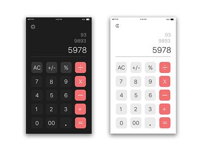 Calculator Dark & Ligght mode app uidesign design uiux ux ui calculator