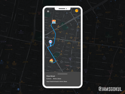 Locations Teacking dailyui mobile ui mobile app tracking app delivery app food app locations map
