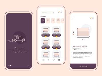 Electronics eCommerce ios mobile app design payment order mobile shopping cart ios app design minimal animation flat app icon typography vector branding logo clean ui illustration ui ux ecommerce