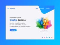 Creative Landing page design for Graphic Designer
