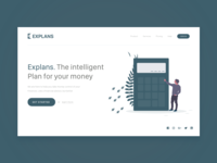 Landing page for Financial Service Website