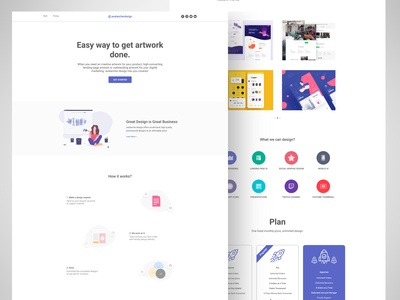 Clean Design Agency Web UI