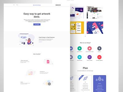 Clean Design Agency Web UI illustration dribbble shot web ui design colorful design simple ui clean web ui webdesign dailyui ui ux clean ui