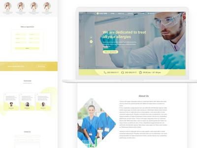 Landing page design for Allergy Testing Services