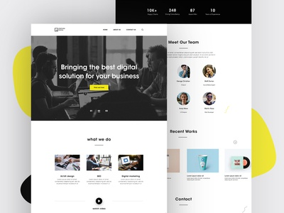 Web UI-Digital Agency Landing Page