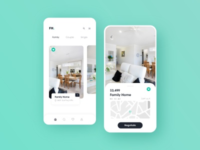 Find My Home - Real Estate Finder App design app illustraion vector property search gif animation house finder realestate booking minimal flat ios icon typography home real estate ux ui app design