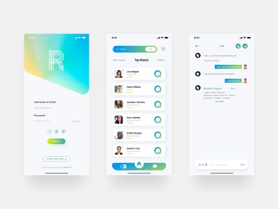 Online Education App- UI Design learning app logo clean ui animation after-effects illustration art ios app iphone iphone x appdesign ui8 ux ui online courses teacher science biology education logo education app education