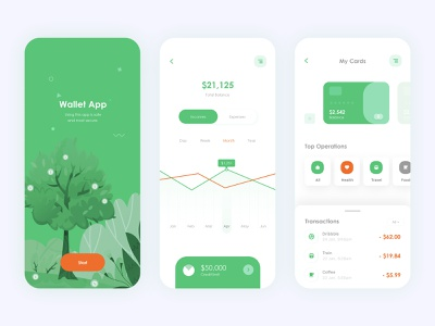 Mobile - clean wallet app ui ux design 🔥🔥 green ui xd wallet app vector ui8 payment page neumorphism money app finance app ios 13 design typography ui ux illustration clean ui animation app bank app animated gif after effects