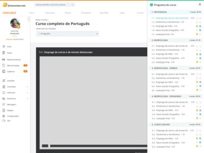 Course design interface