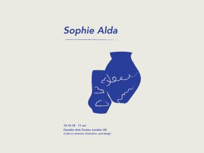 Sophie Alda Ceramics Poster