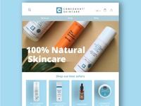 Skincare E-Commerce Concept