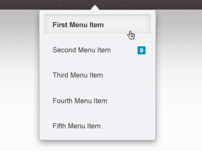 Dropdown Menu dropdown menu cursor ui mockup