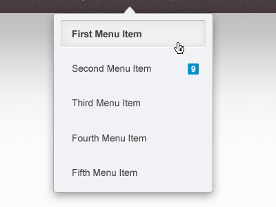 Dropdown Menu dropdown menu cursor ui mockup