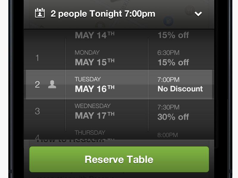 Reserve Spinner groupon reserve reservation discounts spinner