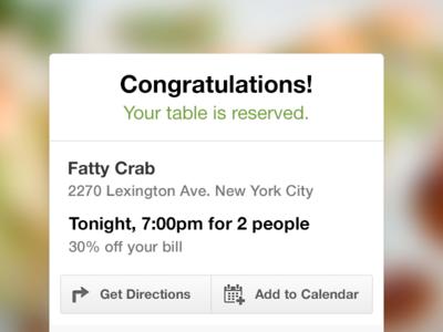 Reserve Confirmation groupon reserve reservation restaurant confirmation