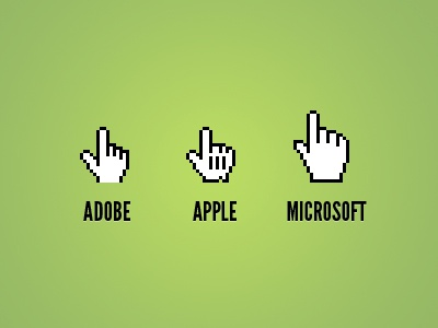 Cursors hand cursor apple adobe microsoft