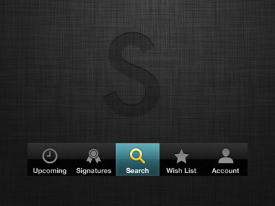 Savored iphone ui ios linen nav bar