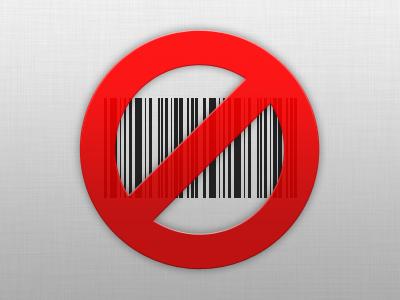 No Bar Codes bar code barcode prohibit