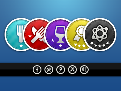 Badges badges savored icons ratings levels symbolicons