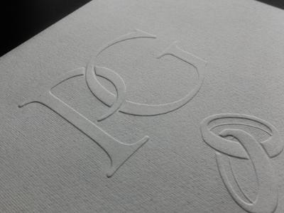P&G LetterPress wedding letterpress logo