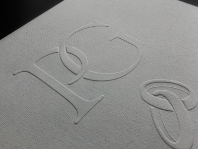 P&G LetterPress wedding letterpress logo