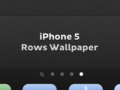 iPhone 5 Rows Wallpaper