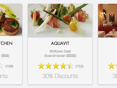 New Savored.com css retina cards restaurant food stars futura responsive rwd