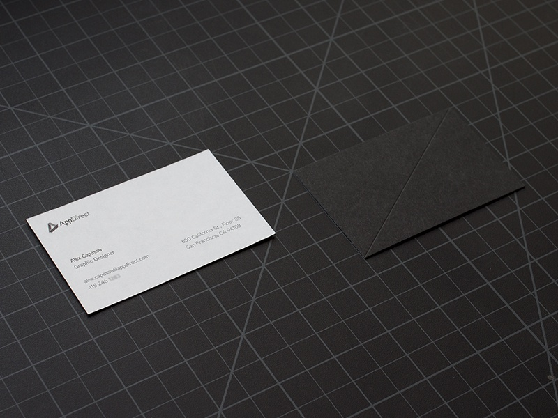 Appdirect Business Cards appdirect business card french paper