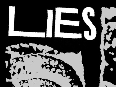 Lies T-Shirt lies punk hardcore dbeat t-shirt photocopied xerox mask titling gothic titling gothic ravaged