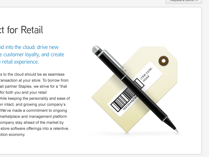 AppDirect for Retail appdirect pen tag barcode illustration photoshop shape layers layer styles